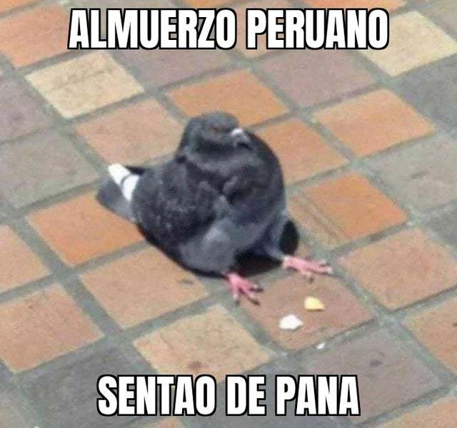 Almuerzo peruano - meme