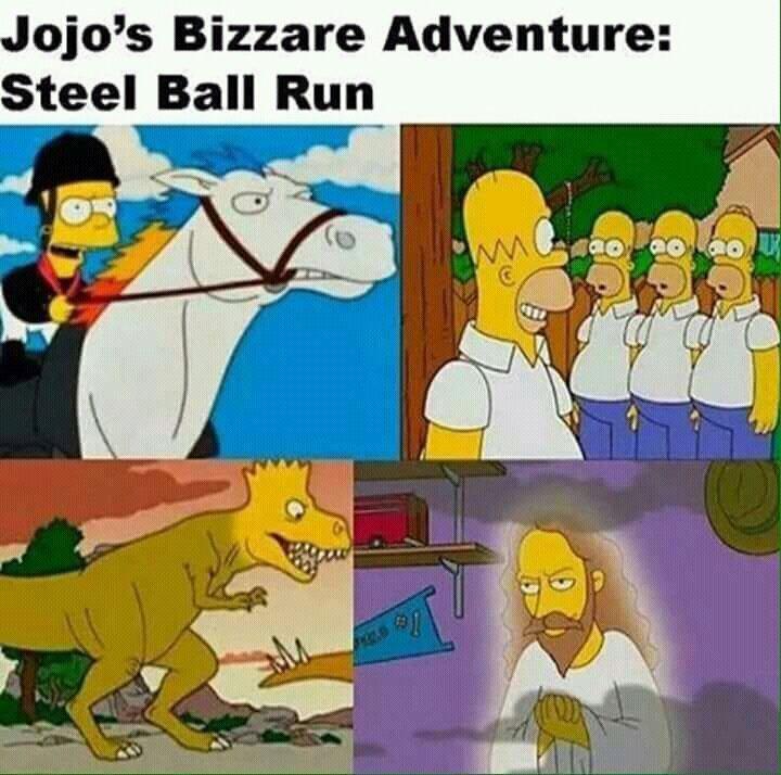 simpsons bizzare adventure - meme