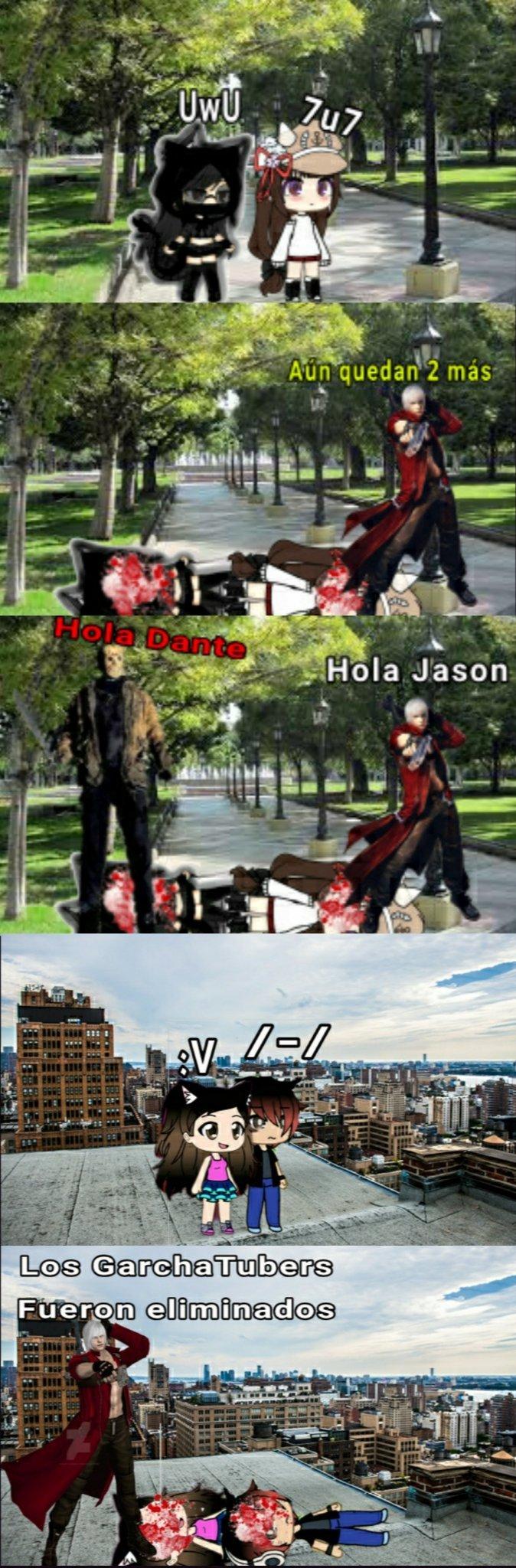Dante vs GarchaTubers 3 - meme