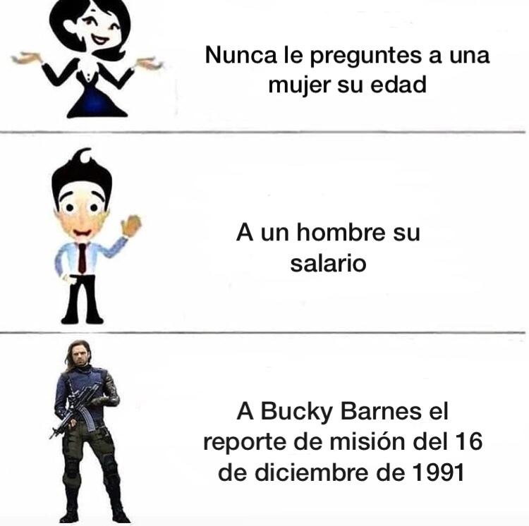 Bucky Barnes - meme