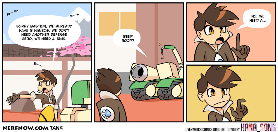 #7 of Overwatch Series | Any wishes for another game? | DISCLAIMER: I am NOT the creator of this comic, credits got to NERFNOW.com ! | - meme