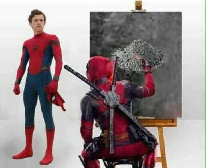 Alm spiderman - meme