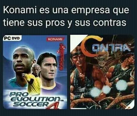 Konami y sus contras - meme