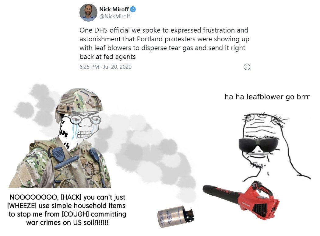 Nooo you're not supposed to fight back this isnt Hong Kong - meme