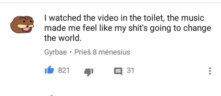 Random comment on a random video. - meme