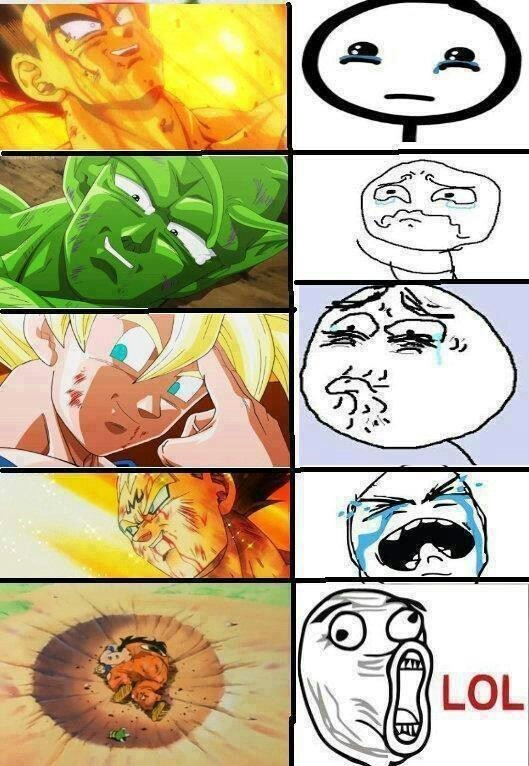 las muertes de dragon ball - meme