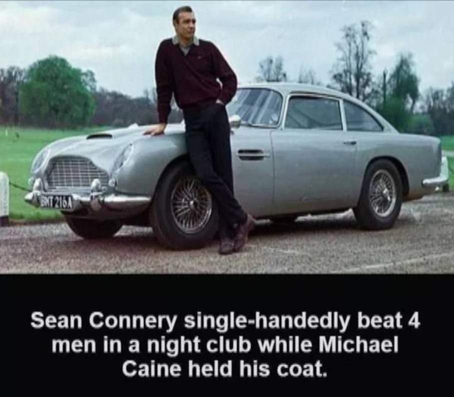 Man like Sean Connery - meme