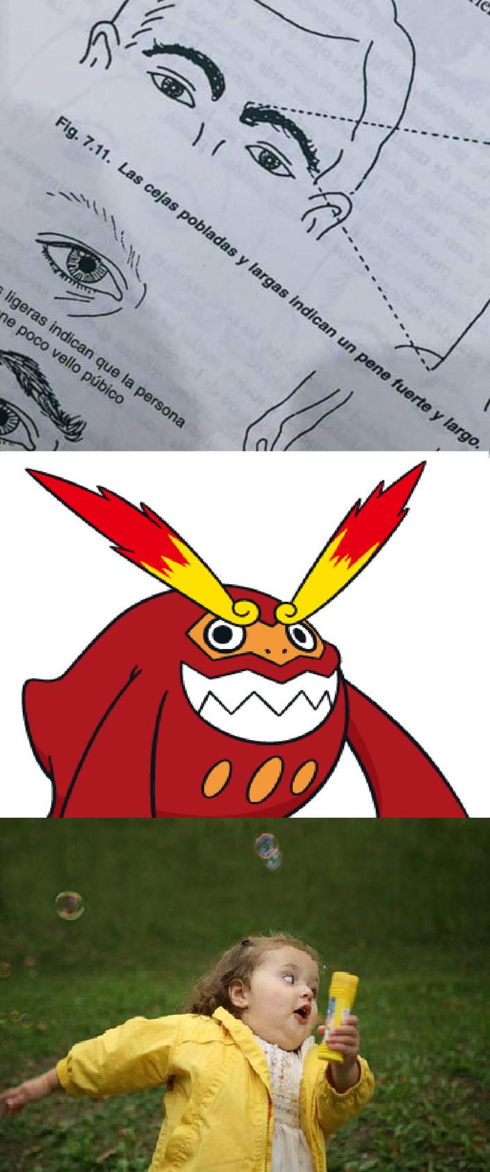 cejas GIGANTESCAS - meme