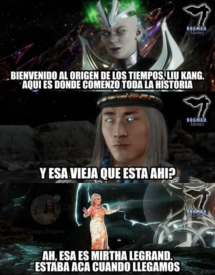Mirta Legrand smiles* - meme
