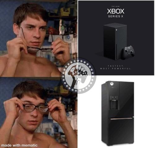 Geladeira series X - meme