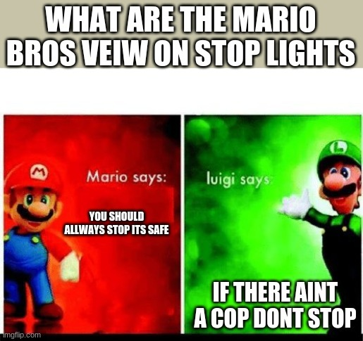 Luigi Is Big Brain - meme