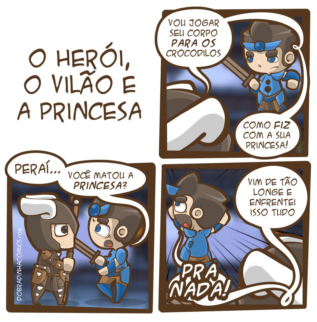 O Herói, O Vilão e A Princesa - meme