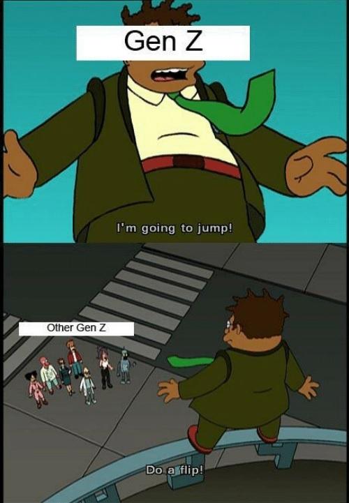 Gen Z has no empathy - meme