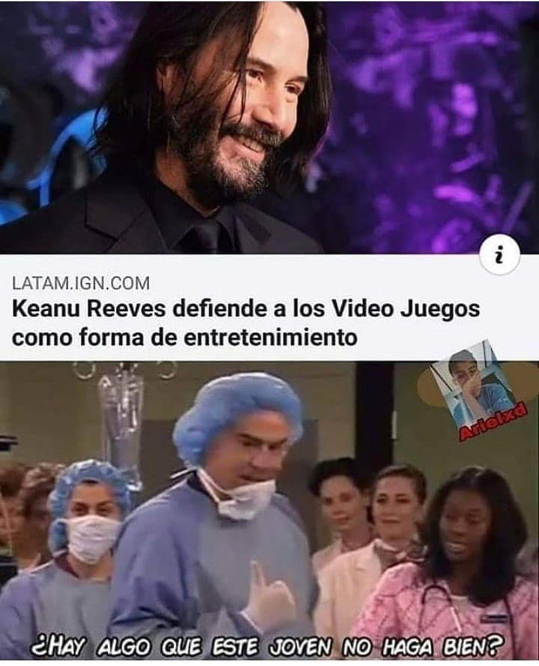 KEANU REEVES EL PVTO AMO - meme
