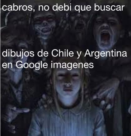 Se que es un aceptado fácil, pero no pueden creer lo que vi..no entiendo porque shipean a Chile & Argentina si son enemigos - meme