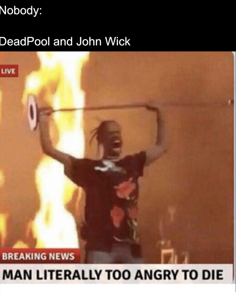 DeadPool was especially angry when they killed Vanessa in Deadpool 2 - meme