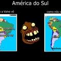 ta na América do sul e n é do brasil? é boludo msm