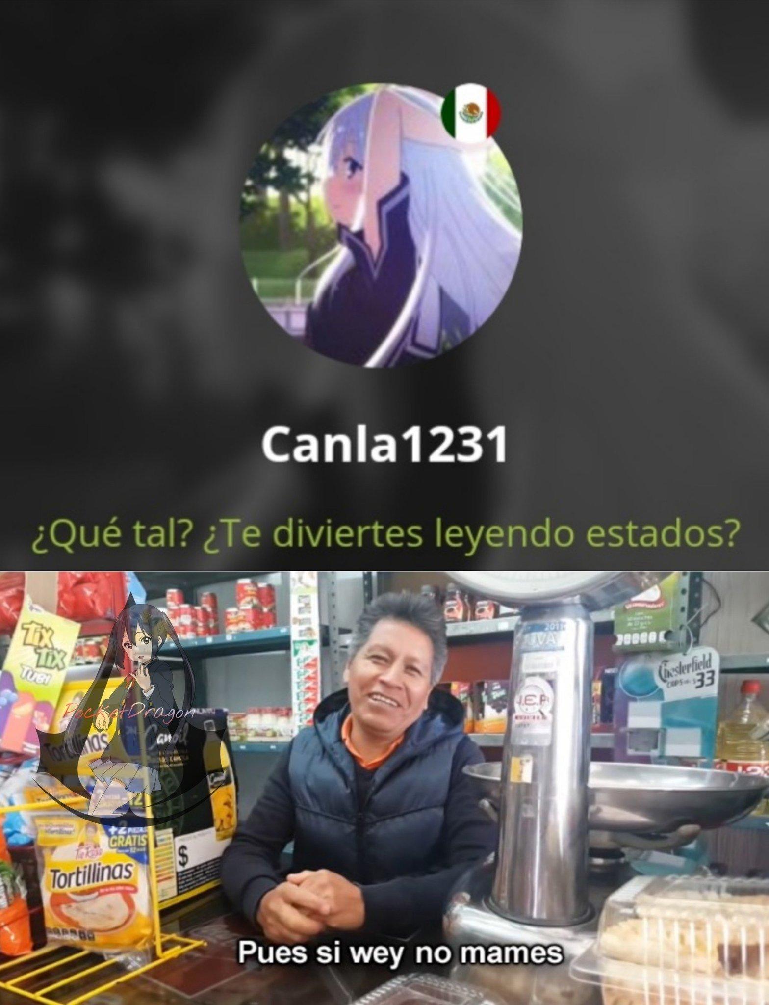 Gracias por el estado Canla1231 - meme