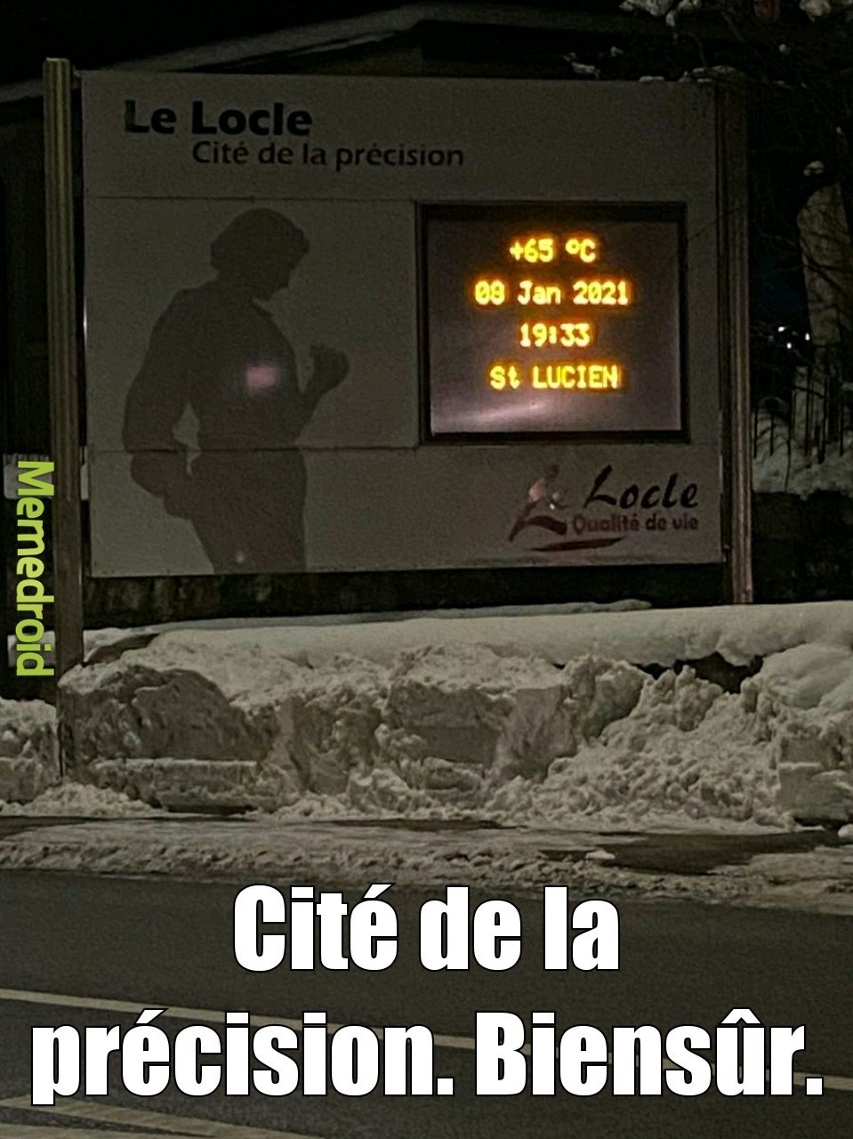 Regardez la température - meme
