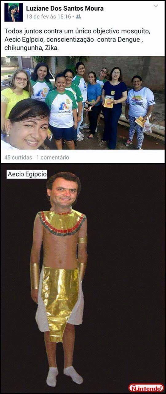 Aécio Egípcio - meme