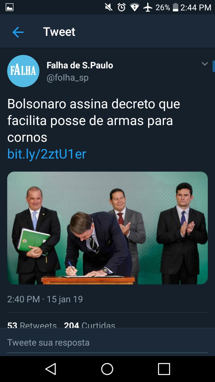 Brasil se torna o primeiro que tem 100% da população armada - meme