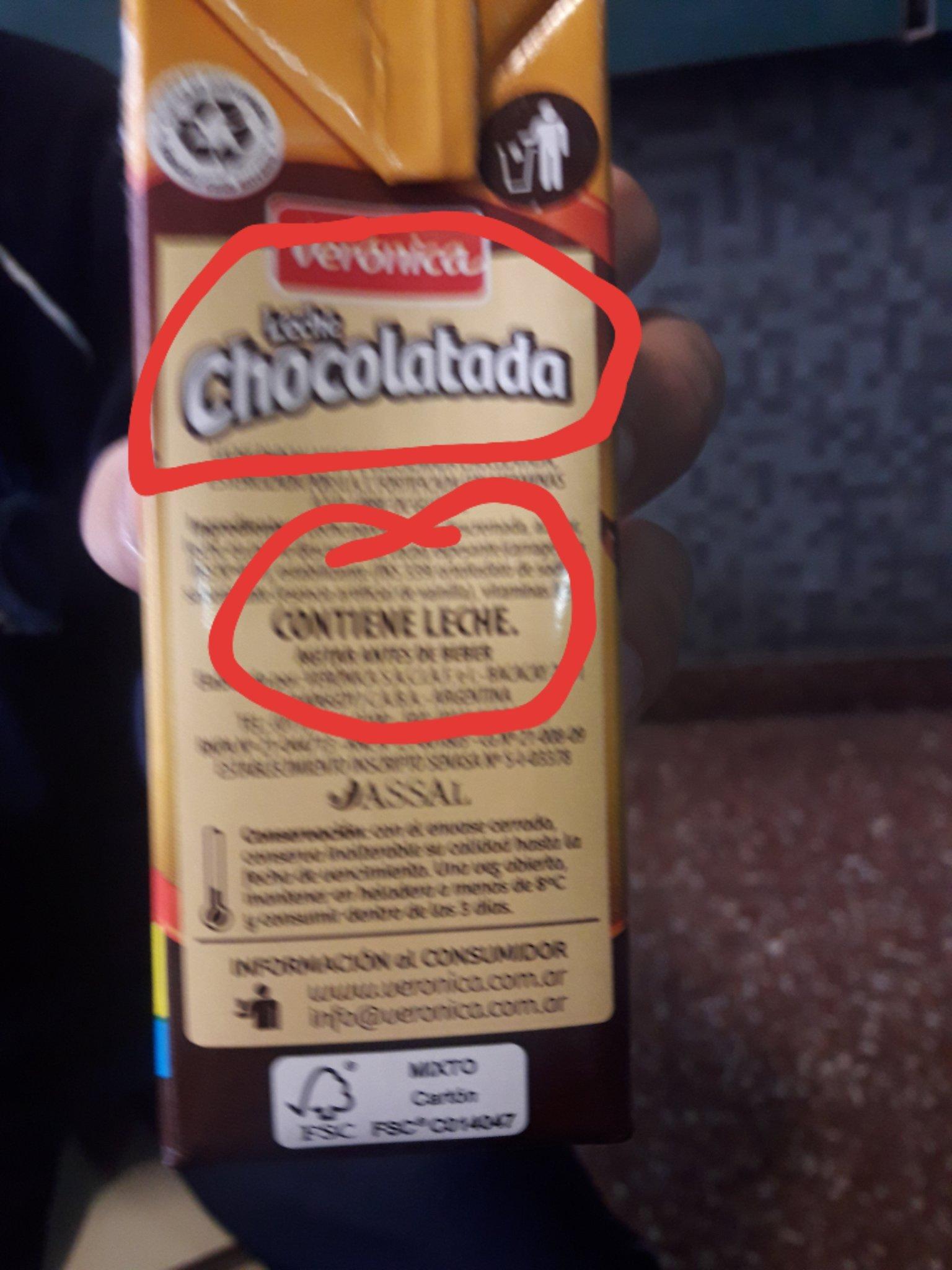 No en serio pensé que era leche chocolatada sin leche - meme