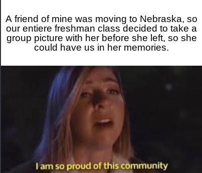 I'm so proud of my class. - meme
