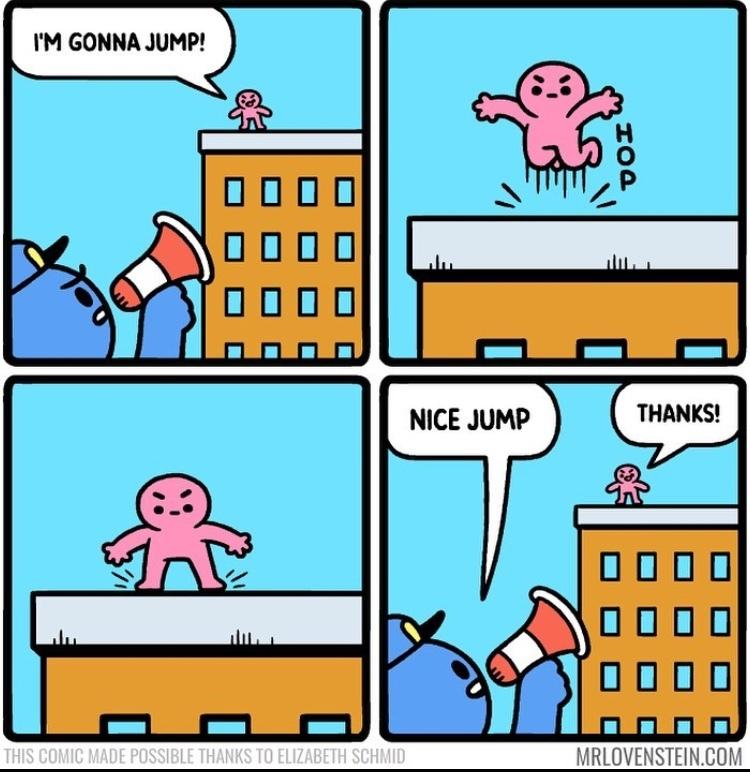nice jump - meme