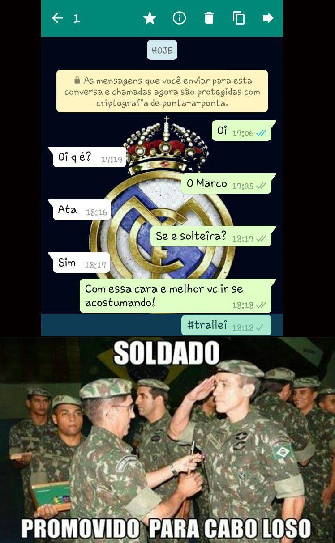 Mais um soldado promovido - meme