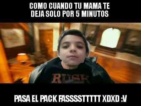 Alguien pase el pack :v - meme