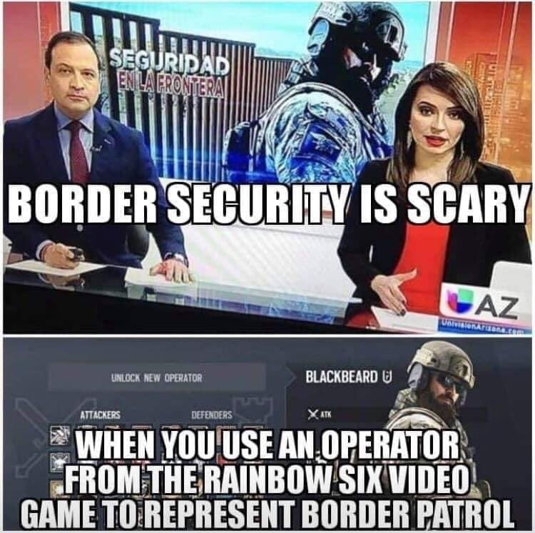 Plot twist, Blackbeard has been assigned to Border Patrol, this is canon now - meme