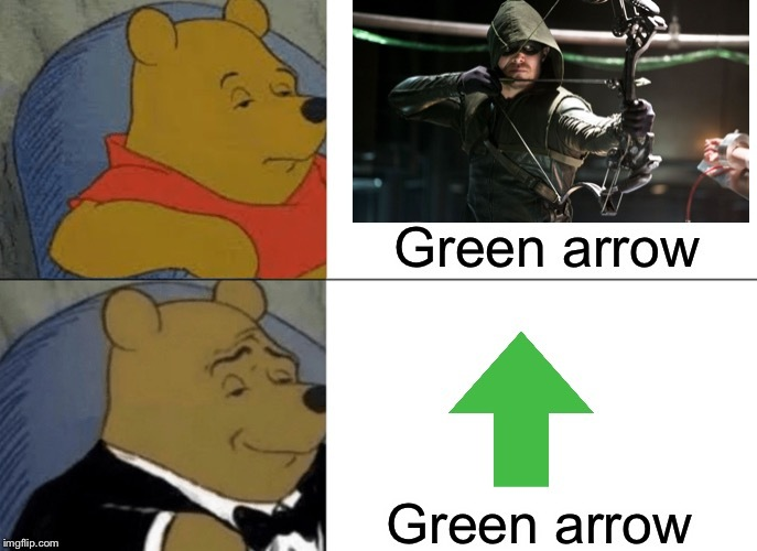 Flecha verde para los no bilingües - meme