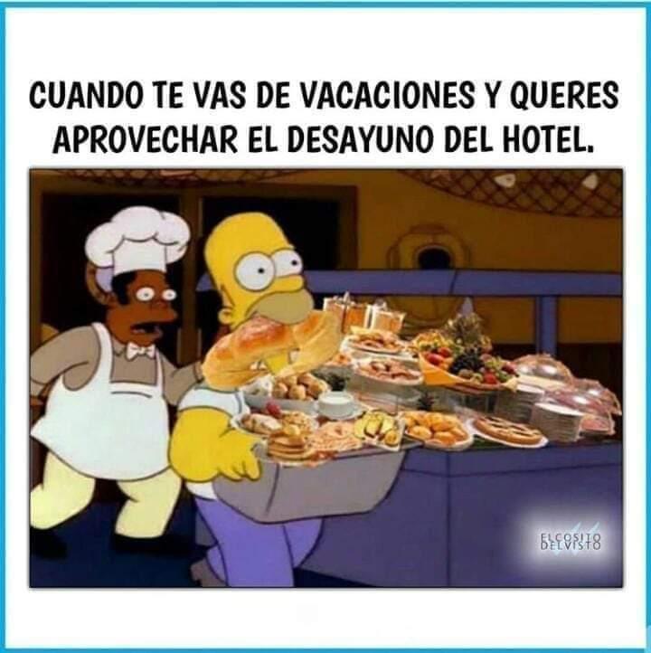 Comida del hotel - meme