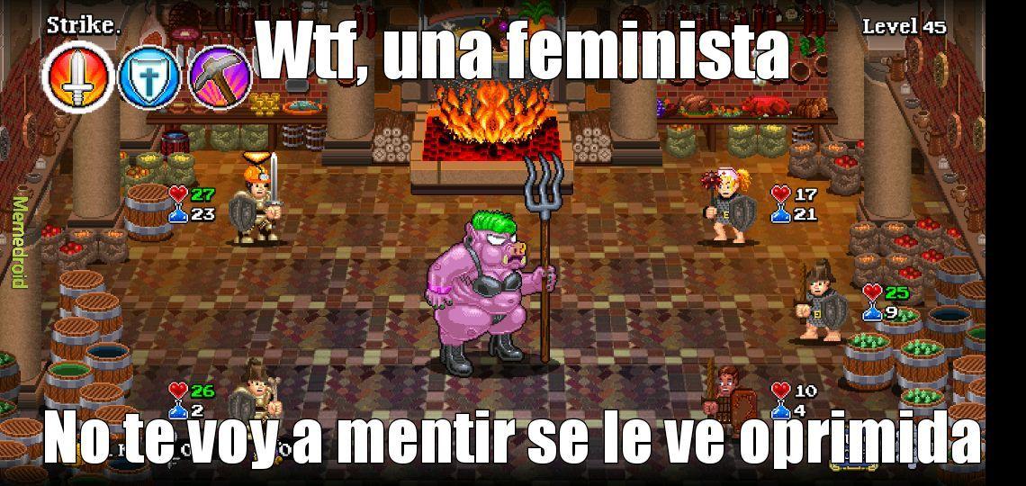 No me esperaba una feminista en el soda dungeon 2 - meme