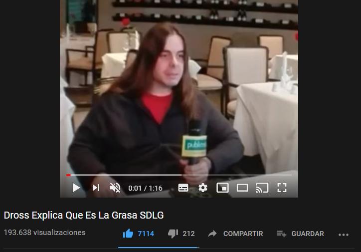 Dross Explica Que Es La Grasa SDLG, me acabo de encontrar este video, es muy random por eso lo comparto - meme