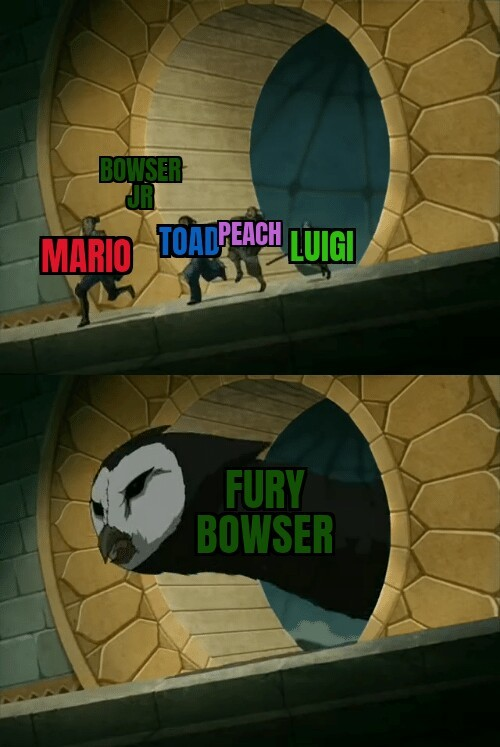 If Bowser fury have 5 players? - meme