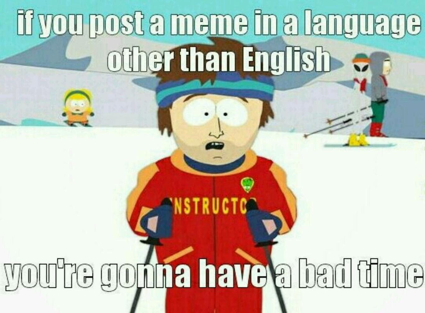 No hablas español - meme