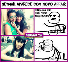 Neymar de peruca - meme