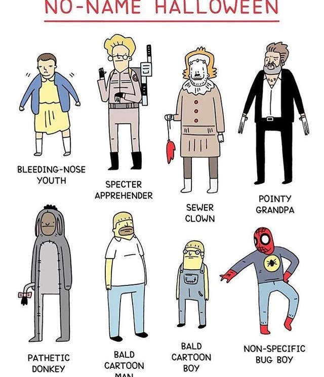 No-Name halloween costume ideas - meme
