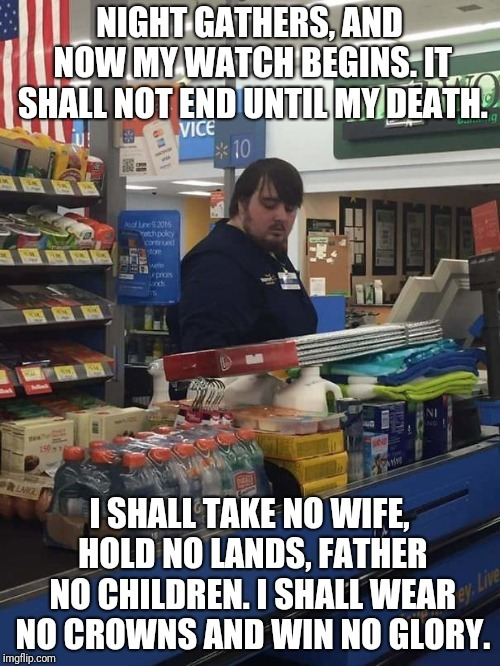 Wtf is Samwell doing at Wal-Mart?!!! - meme