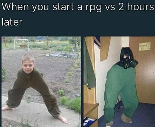 Gas mask gives +2 Charisma - meme