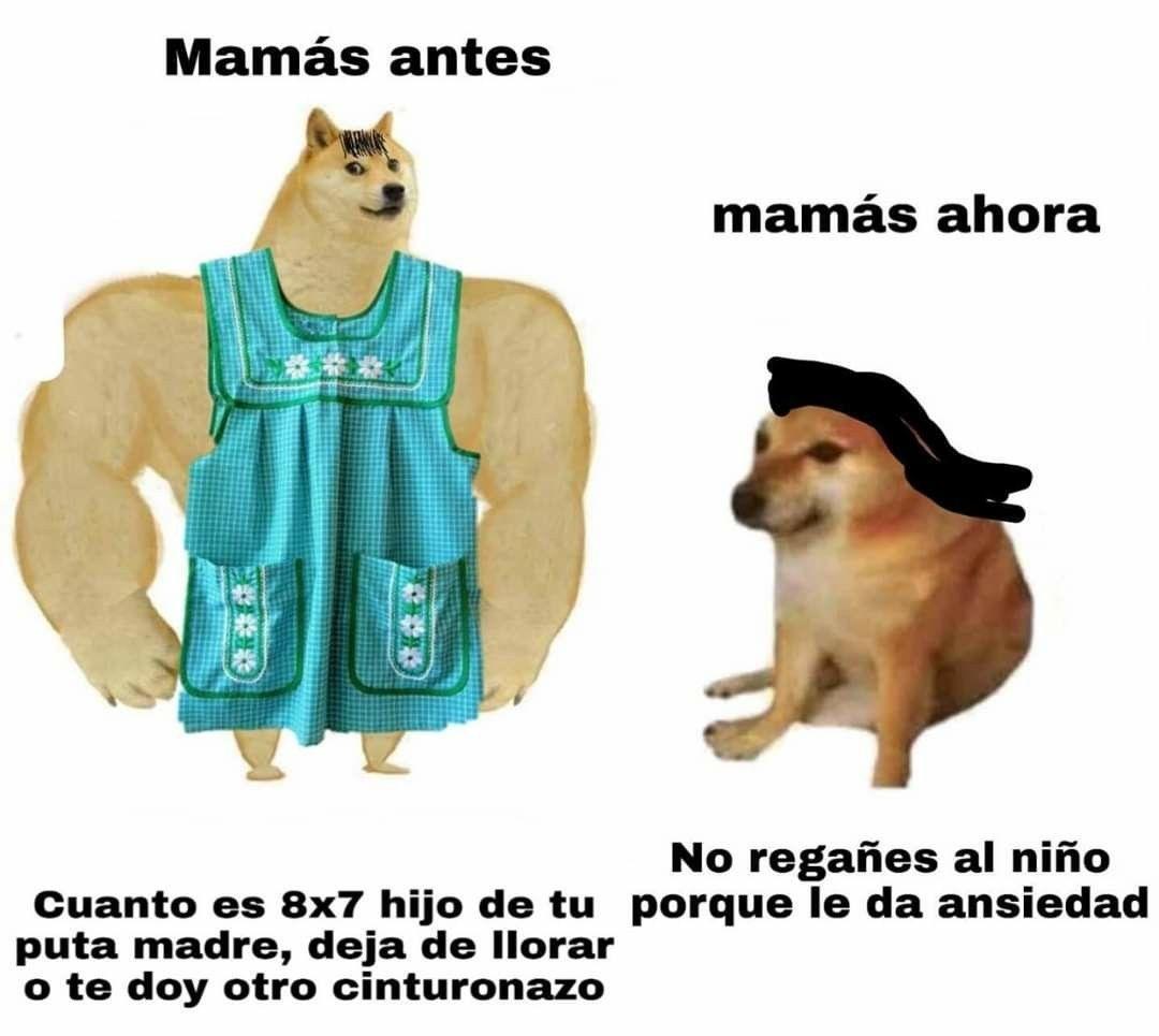 MAMAS ANTES VS AHORA - meme