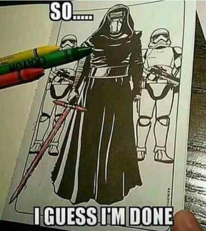Kylo's Rage Red - New from Crayola - meme