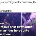 Nightclub shut down after woman rides horse onto dancefloor