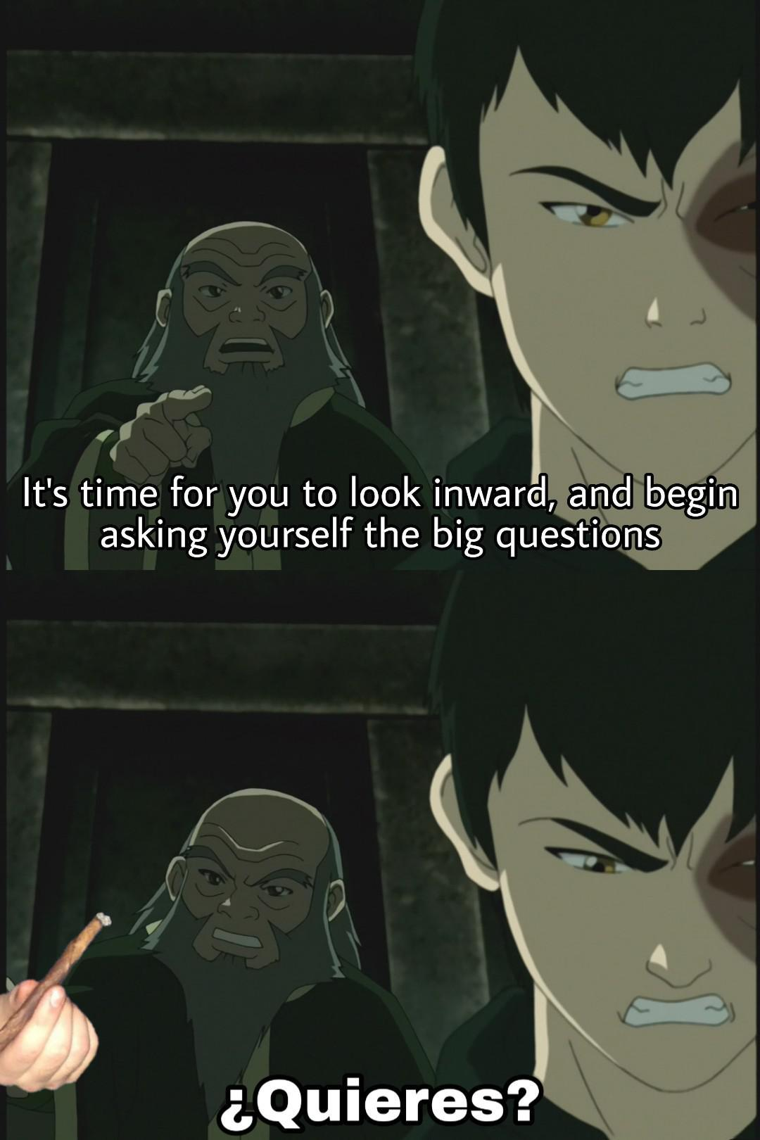 Big questions - meme