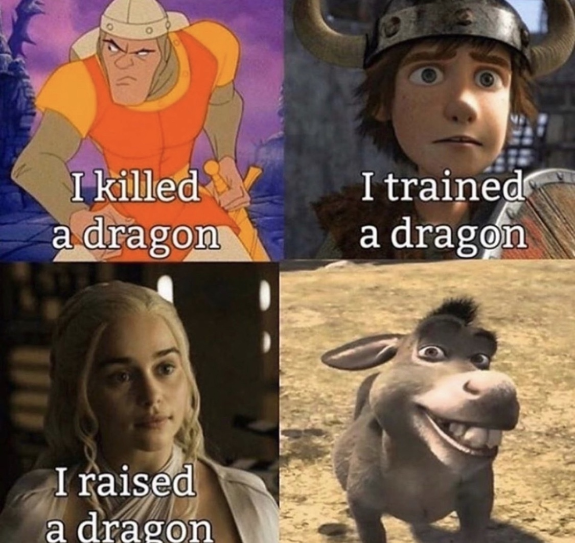 I   a dragon - meme
