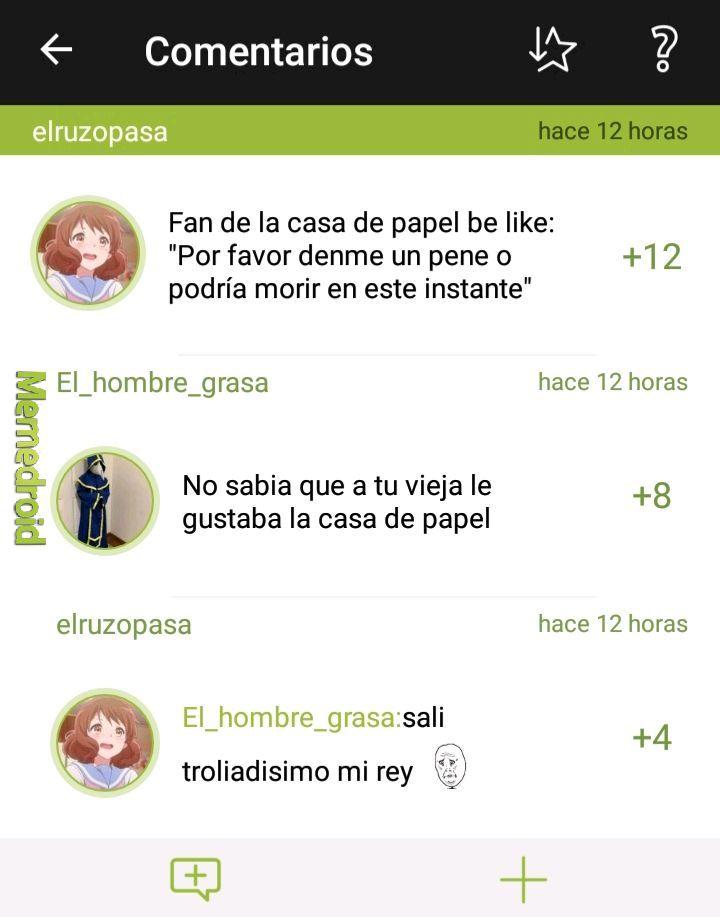 Saludos a elruzopasa y el_hombre_grasa - meme