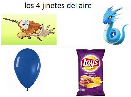 los 4 jinetes del aire - meme