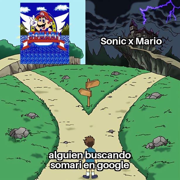 Me paso una vez que buscaba somari en google buscando el juego y en las imagenes salieron shipeos gays - meme