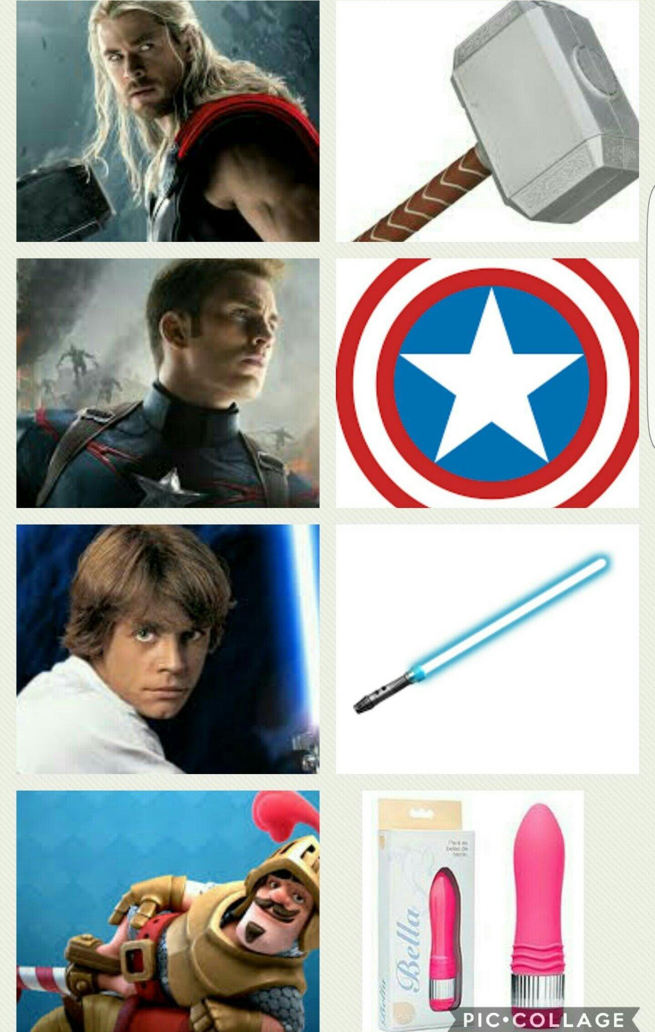 Personagens e suas armas - meme